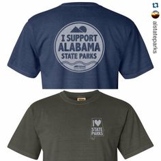 #Repost @alstateparks with @repostapp.  Check out the new t-shirts that our friends @alparkspartners are now selling. Cool huh. All proceeds go to @alparkspartners and will help us accomplish projects that ensure the Alabama State Parks has a future. Visit alstateparkspartners.com to order.