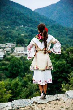Bulgarian girl and view.