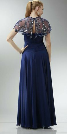 Plus Size Women S Linen Dresses Refferal: 9009808030 Mother Of The Bride Trouser Suits, Mother Of The Bride Dresses Long, Dresses To Wear To A Wedding, Navy Blue Formal Dress, Blue Chiffon Dresses, Ivory Dresses, Maxi Dresses, Cocktail Dresses With Sleeves, Gowns With Sleeves