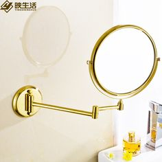Copper folding cosmetic mirror fashion gold plated 8 bathroom makeup mirror antique wall-mounted retractable mirror - http://furniturefromchina.net/?product=copper-folding-cosmetic-mirror-fashion-gold-plated-8-bathroom-makeup-mirror-antique-wall-mounted-retractable-mirror
