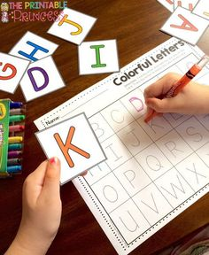 FUN Back to School Games for Kindergarten Letter identification or letter recognition. Either way this is fun activity for… p FUN Back to School Games for Kindergarten Letter identification or letter recognition Either way this is fun activity for p Kindergarten Centers, Preschool Literacy, Preschool Letters, Kindergarten Writing, Learning Letters, Kindergarten Classroom, Letter Recognition Kindergarten, Literacy Activities, Abc Centers