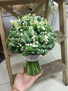 me ~ Pin on Flowers ~ Dec 2019 - Lily of the valley and variegated grasses Artist Slava Rosca Bridal Flowers, Flower Bouquet Wedding, Floral Wedding, Deco Floral, Arte Floral, Contemporary Wedding Flowers, Fresh Flowers, Beautiful Flowers, Alternative Bouquet