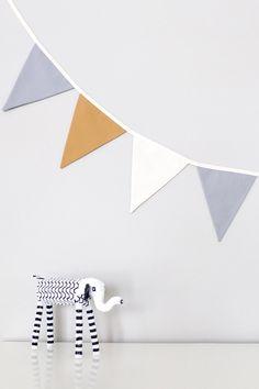 Fabric Bunting Garland Banner - Grey / Mustard / Oatmeal Bunting Garland, Fabric Bunting, Boy First Birthday, First Birthdays, Playroom, Mustard, Birthday Parties, Oatmeal