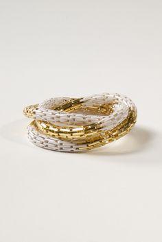 Multi Coil Bracelet in White $18 (found via @Joy Cho / Oh Joy! blog)