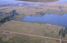 Aerial view, Coldwater and Lake Coldwater.