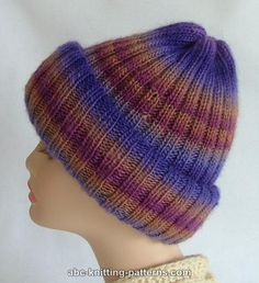 ABC Knitting Patterns - Transformer Hat-Scarf