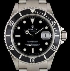 Rolex Submariner Date Gents Stainless Steel Black Dial B&P 16610