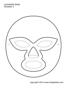 Luchador Mask Template Nacho Libre Costume Wrestling Birthday Parties 25th