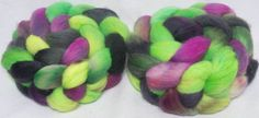 Hand dyed roving  Kent Romney British breed wool by YummyYarnsUK