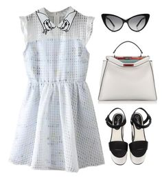 """""""Senza titolo #4639"""" by marcellamic ❤ liked on Polyvore featuring WithChic, Chanel and Fendi"""