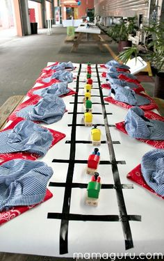 Train Birthday Party Place Setting