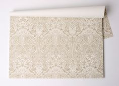 """""""Paisley"""" Paper Placemat Pad • Hand-drawn paisley pattern in metallic gold ink perfectly pairs with sophisticated or bohemian tablescapes! 50 sheets • Recycled Content • Made in the USA"""