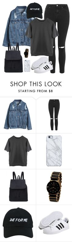 """Back to school Infinite inspired // Hoya"" by berrie95 ❤ liked on Polyvore featuring WithChic, Topshop, Uncommon, Nasaseasons, adidas, BackToSchool, infinite, hoya and kpopoutfits"