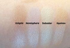 Sleek Makeup Solstice Highlighting Palette Swatches
