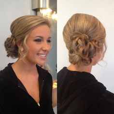 Curly updo! Homecoming!