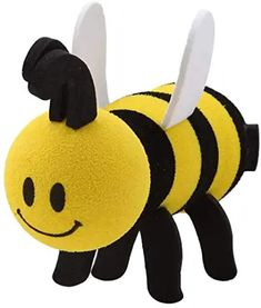 Rear View Mirror Dangler Antenna Ball Auto Accessory for Thick Style Antenna: Queen Bumble Bee Car Antenna Topper Tenna Tops