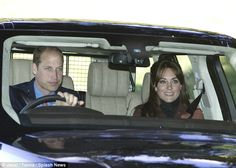 The Duke and Duchess of Cambridge were seen driving to Crathie Kirk for morning prayers in Scotland on Sunday