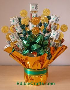 Learn how to make this adorable Money Candy Bouquet