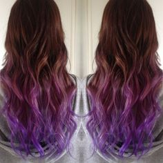Alf img - Showing > Purple to Pink Ombre On Brunettes