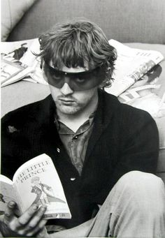 David Hemmings (here relaxing on the set of Blow Up, 1966) (November 18, 1941 - December 3, 2003) British actor, director and producer, most known from the movies Gladiator (2000) and Gangs of New York (2002) and Blow up (1966).