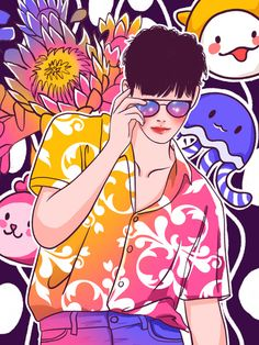 Graffiti colorful glasses playing cool fashion boy illustration illustration image Boy Illustration, Character Illustration, Illustration Fashion, Chibi Boy, Beautiful Notebooks, Underwater Creatures, Cool Sketches, Geometric Background, Background Templates
