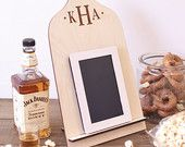 Personalized Wood Cutting Board iPad Stand Kindle, Nook, Tablet Holder Country Kitchen Wedding Gift (Item MHD20095)