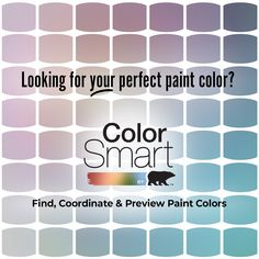 Find, coordinate, preview—it's that easy with ColorSmart by BEHR®. Whether you're painting an entire room or just looking to refresh an old piece of furniture, the ColorSmart tool can help you find your perfect paint color palette that fits your interior design style. Click below to learn more.