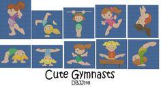 Gymnastic  Gymnast  Girls Toddler Tumbling by Embroideryworld, $26.99