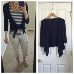 Cynthia Rowley cardigan Light knit cardigan in dark blue, almost navy -but it is a more vibrant blue in the sunlight. Tie-front with 3/4-length sleeves; can also be worn open. Tag says XS but easily fits a small. Throw over your favorite top or summer dress! Bundle with floral sundress shown in pics for a discount! Cynthia Rowley Sweaters Cardigans