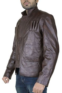 ed3d176225 Star Wars Force Awakens Han Solo Faux Leather Jacket at Amazon Men s  Clothing store
