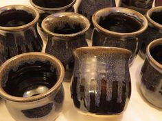 Great glaze combo ~ Purple Haze over Black Licorice. Black Licorice, Purple Haze, Crane, Pottery, Mugs, Tableware, Ceramica, Dinnerware, Pottery Pots