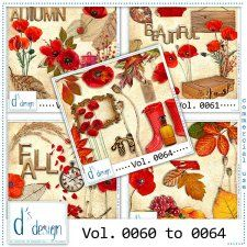 Vol. 0060 to 0064 - Autumn Mix  by Doudou's Design  #CUdigitals cudigitals.com cu commercial digital scrap #digiscrap scrapbook graphics
