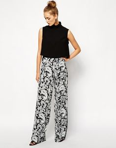 French Connection Crepe Pants in Paisley Print - ASOS