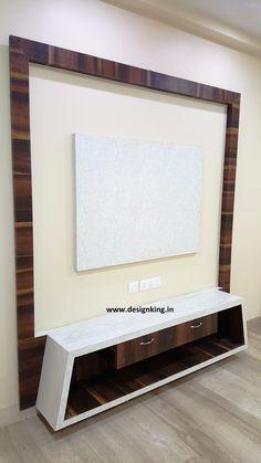 Bedroom Tv Unit Design, Lcd Unit Design, Lcd Wall Design, Tv Unit Furniture Design, Living Room Tv Unit Designs, Ceiling Design Living Room, Decor Home Living Room, Partition Design, Bed Design