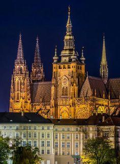 Night time at St. Vitas Cathedral, Prague