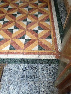Signed Terrazzo Floor