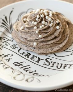"Disney Grey Stuff recipe ""try the grey stuff, it's delicious! Don't believe me? Ask the dishes!"""