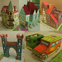 Tektonten Papercraft - Free Papercraft, Paper Models and Paper Toys: Hungarian Architecture  Vehicle Paper Models
