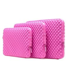 Amazing Accessory (TM) Durable Diamond Shock-Resistant Laptop Sleeve (HOT PINK) for HP Stream 11.6 Laptop