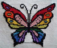 Kelebek Figürlü En Güzel Kelebek Etamin Örnekleri ve Kelebek Çarpı işi Şemaları El işlerinde bir çok Hayvan figürü kullanılır fakat en bilinen Kelebek el işi işlemeleridir. Kelebekli örgüler, Kele…