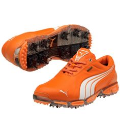 Puma // PUMA GOLF SHOES SUPER CELL FUSION ICE LE VIBRANT ORANGE/WHITE - SPRING 2012- Want these :)