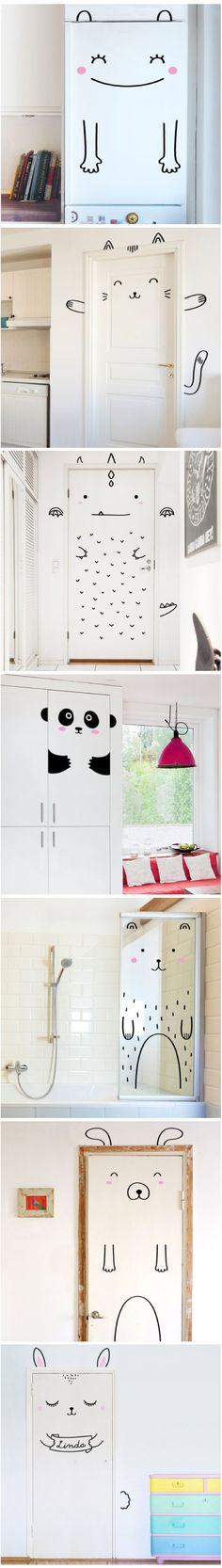 Cute tape ideas for kids room