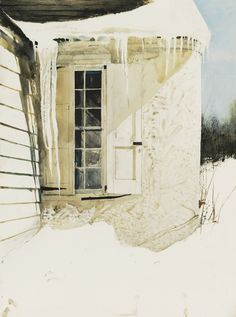 """ANDREW WYETHThe ObservatoryWatercolor30"""" x 22"""""""
