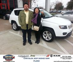 #HappyAnniversary to Zheng Gaun on your 2014 #Jeep #Compass from Bill Moss at Huffines Chrysler Jeep Dodge RAM Plano!
