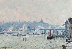 View of the Thames: Charing Cross Bridge 1874, Alfred Sisley