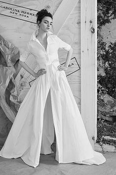 The most Carolina Herrera wedding dress in the universe.