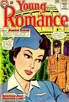 """""""Another Face - Another Love"""" Part One by John Romita Sr.(published in Young Romance Comics DC Comics) Dc Comic Books, Comic Book Covers, Comic Art, Romantic Comics, Another Love, Silver Age Comics, True Romance, Vintage Romance, Vintage Comics"""