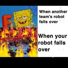Nerd Memes, Nerd Humor, Funny Memes, Robotics Club, Robotics Engineering, Team Robot, Robot Programming, Dc Heroes, Dad Jokes