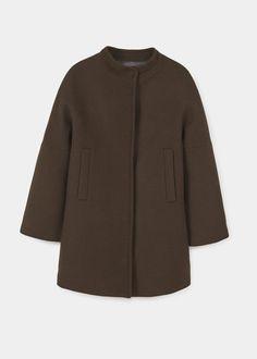 Cappotto lana destrutturato   MANGO