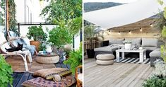 Deco & Landscaping Terrace: 24 Great Ideas to Copy! Backyard, Patio, Outdoor Furniture Sets, Outdoor Decor, Mode Style, Home Organization, Feng Shui, Florence, Home Accessories